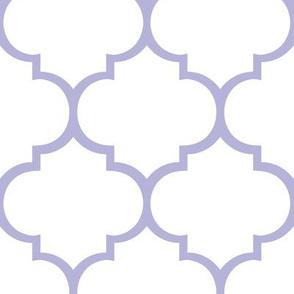 Fancy Lattice Lavender Outline
