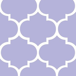 Fancy Lattice Lavender with White Outline