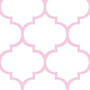 Fancy Lattice Pink Outline