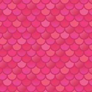 Mermaid fish scales in pink