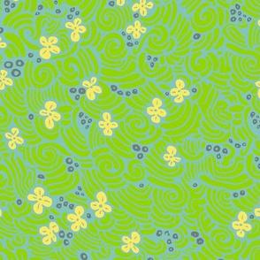 Field of flowers - 'Flights of fancy' colours