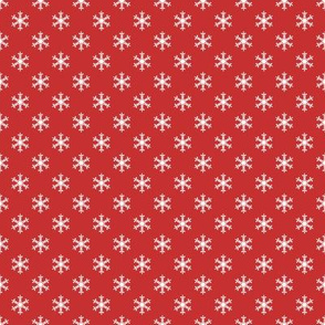 Retro Holly Jolly Red Snowflakes