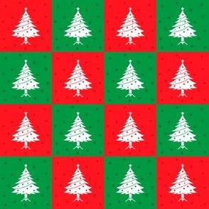 Retro Style Christmas Trees Pattern