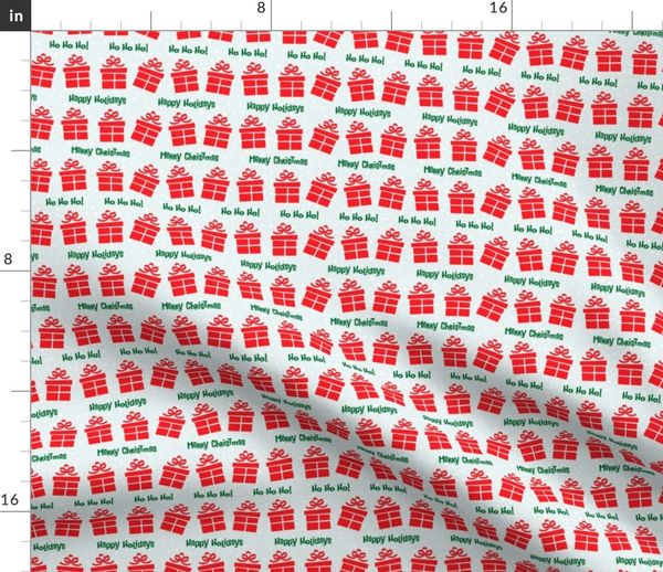 Christmas Chain Text.Fabric By The Yard Retro Style Gifts Christmas Pattern