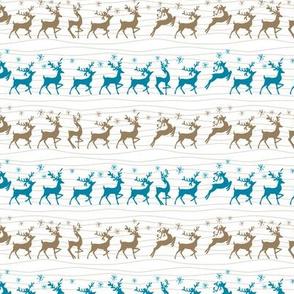 Cute Retro Reindeer Christmas Pattern