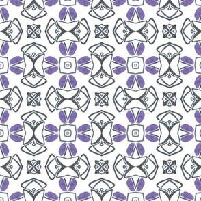Blue Geometric tile (drum02)