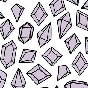 crystals // purple lilac crystal gems fabric girls gemstones