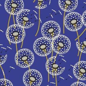 fanciful flight - make a dandelion wish! - dusky blue