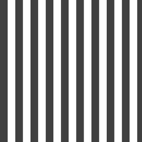 charcoal and white stripes
