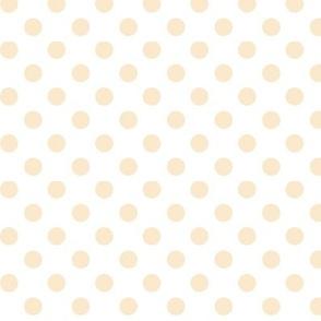 polka dots ivory