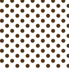 polka dots brown