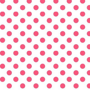 polka dots hot pink