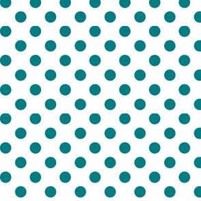polka dots dark teal