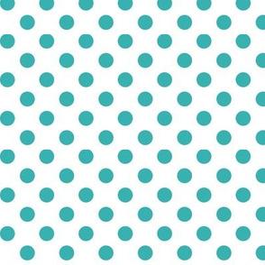 polka dots teal