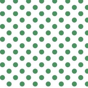polka dots kelly green