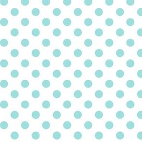 polka dots light teal