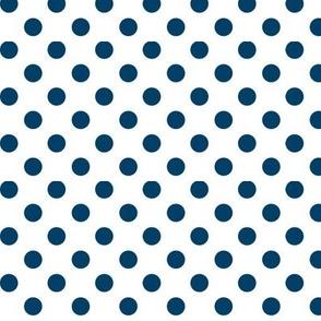 polka dots navy blue