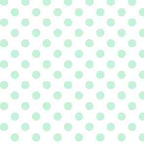 polka dots ice mint green