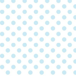 polka dots ice blue