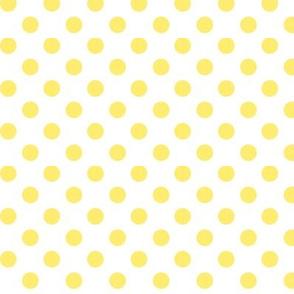 polka dots lemon yellow