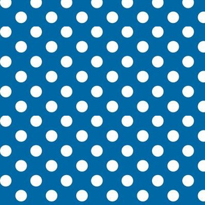 polka dots 2 royal blue