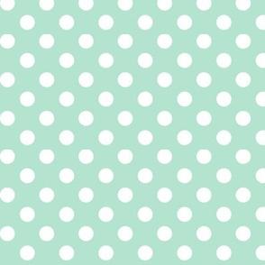 polka dots 2 mint green
