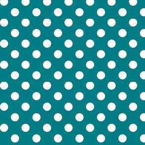 polka dots 2 dark teal