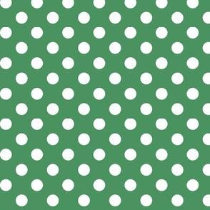polka dots 2 kelly green