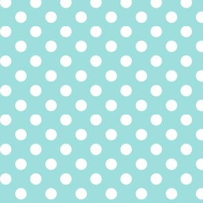 polka dots 2 light teal