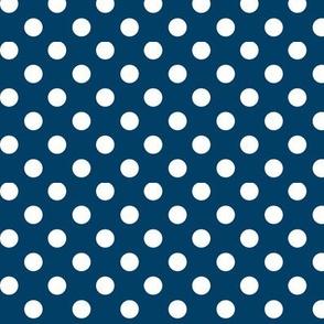 polka dots 2 navy blue