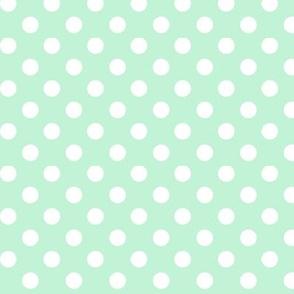 polka dots 2 ice mint green