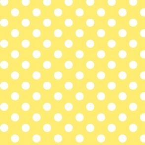 polka dots 2 lemon yellow