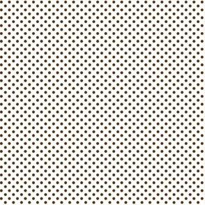 mini polka dots brown