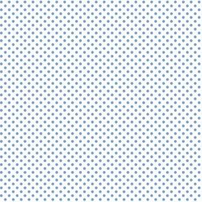 mini polka dots cornflower blue