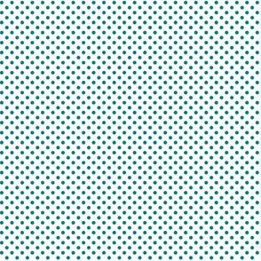 mini polka dots dark teal