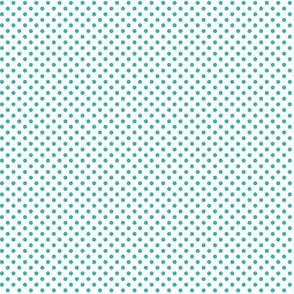 mini polka dots teal