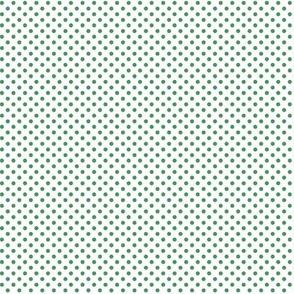 mini polka dots kelly green