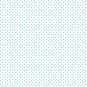 mini polka dots light teal