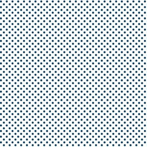 mini polka dots navy blue