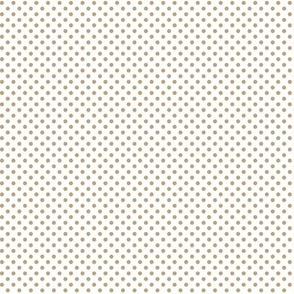 mini polka dots tan