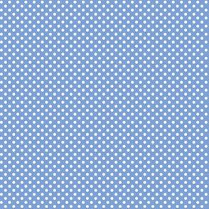 mini polka dots 2 cornflower blue
