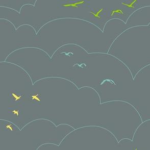flying high - gray