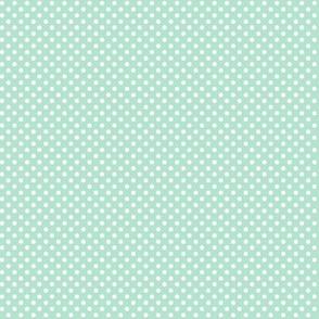 mini polka dots 2 mint green
