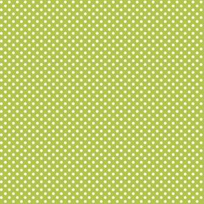 mini polka dots 2 lime green