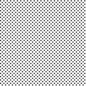 mini polka dots black