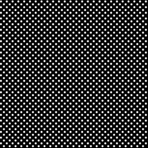 mini polka dots 2 white on black
