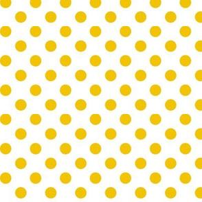 polka dots mustard yellow