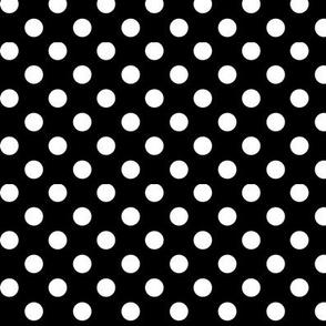polka dots 2 black