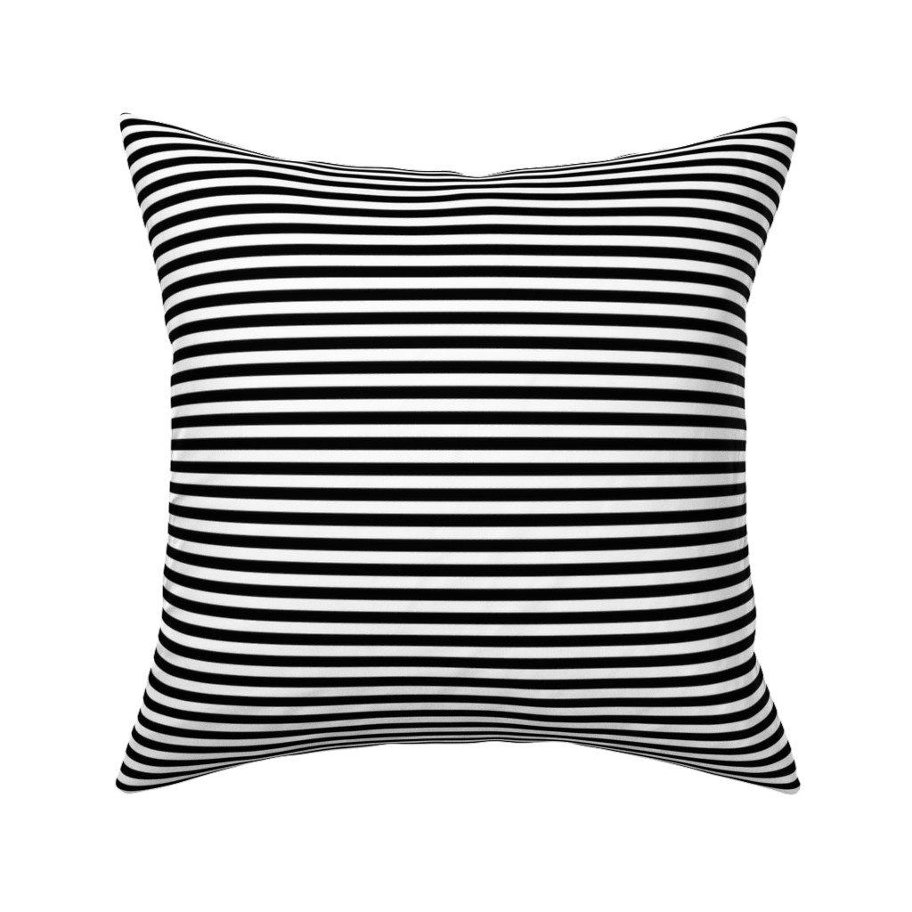 Catalan Throw Pillow featuring stripes black by misstiina