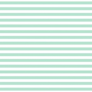 stripes mint green
